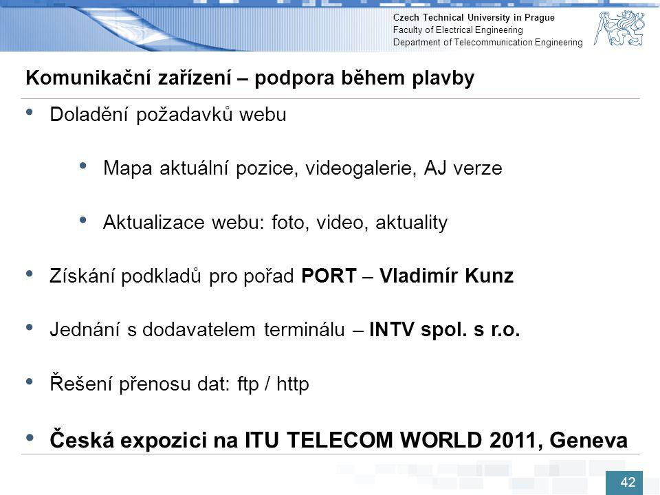 Česká expozici na ITU TELECOM WORLD 2011, Geneva