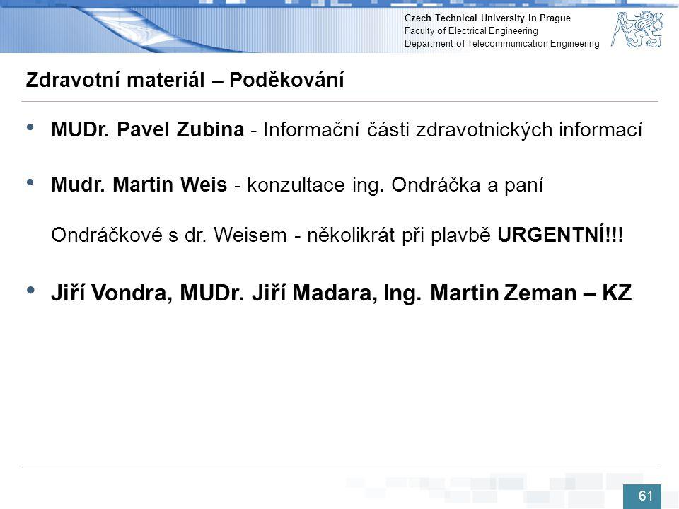 Jiří Vondra, MUDr. Jiří Madara, Ing. Martin Zeman – KZ