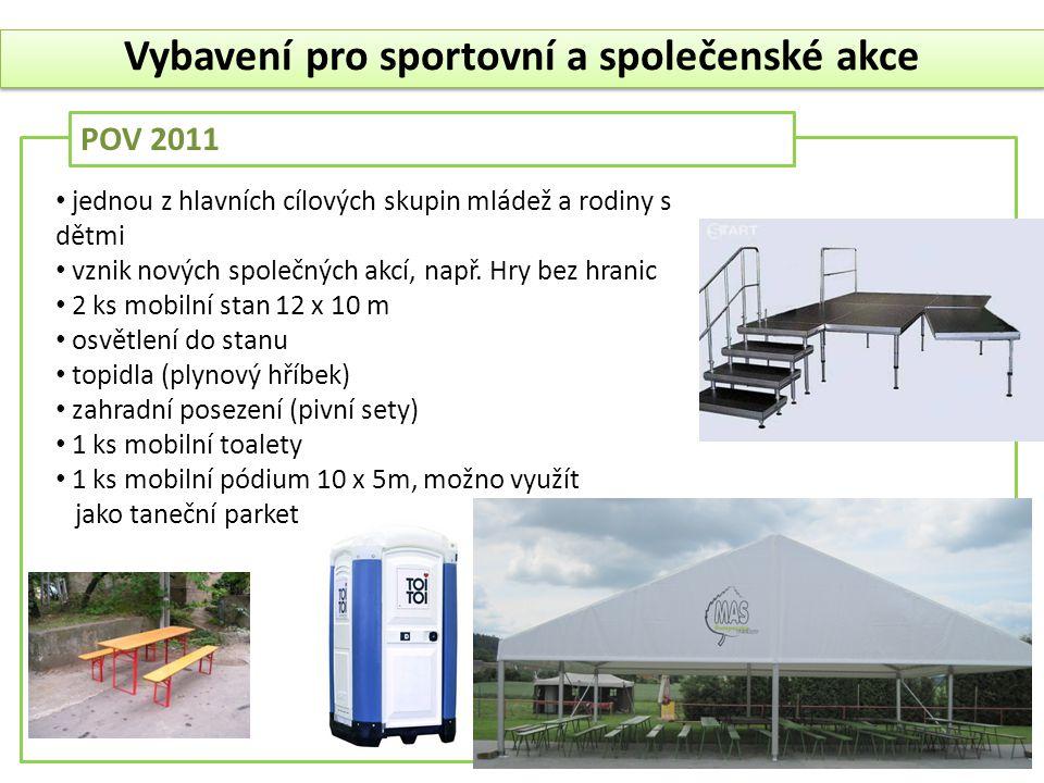 Vybavení pro sportovní a společenské akce