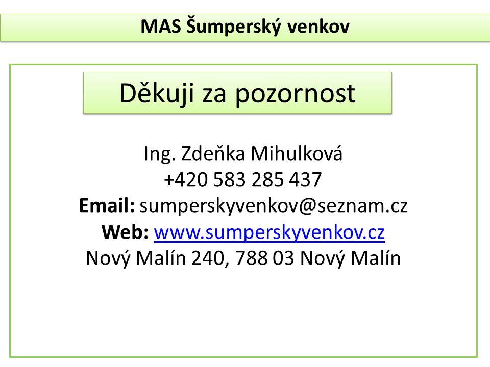 Děkuji za pozornost Ing. Zdeňka Mihulková +420 583 285 437