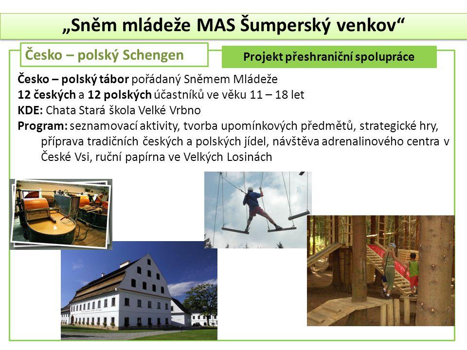 """""""Sněm mládeže MAS Šumperský venkov Projekt přeshraniční spolupráce"""