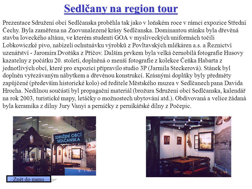 Sedlčany na region tour
