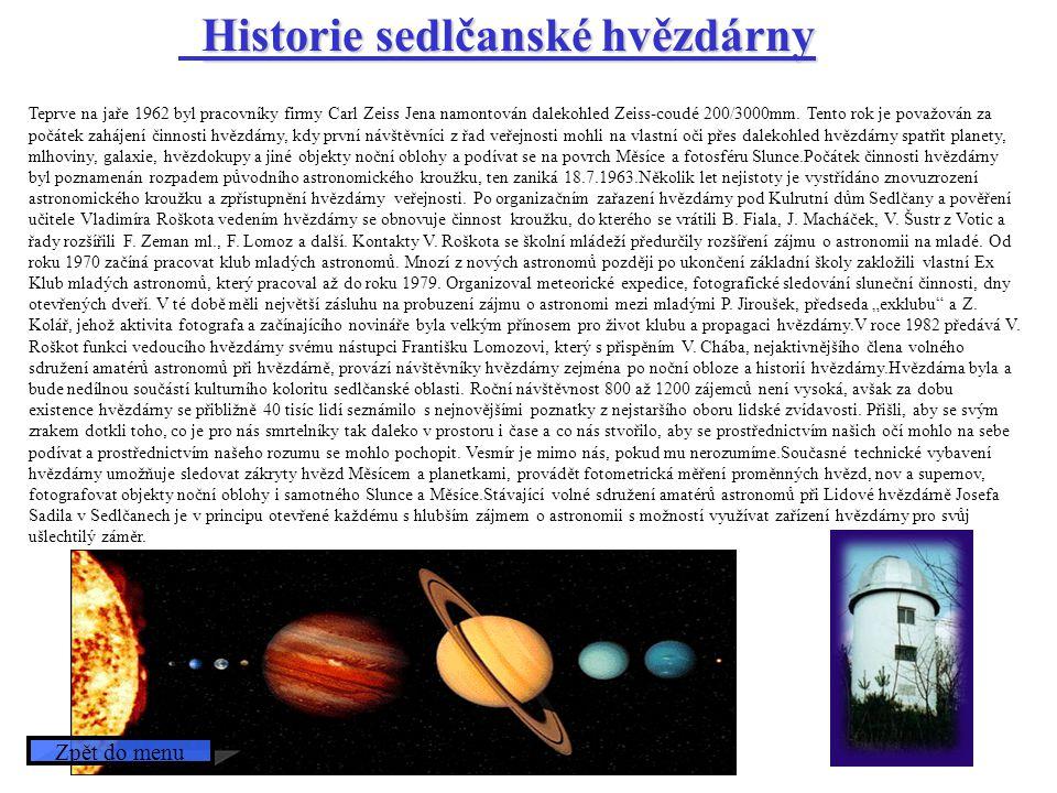 Historie sedlčanské hvězdárny