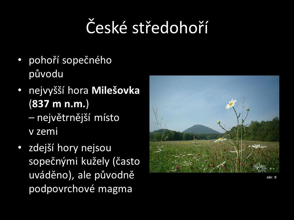 České středohoří pohoří sopečného původu
