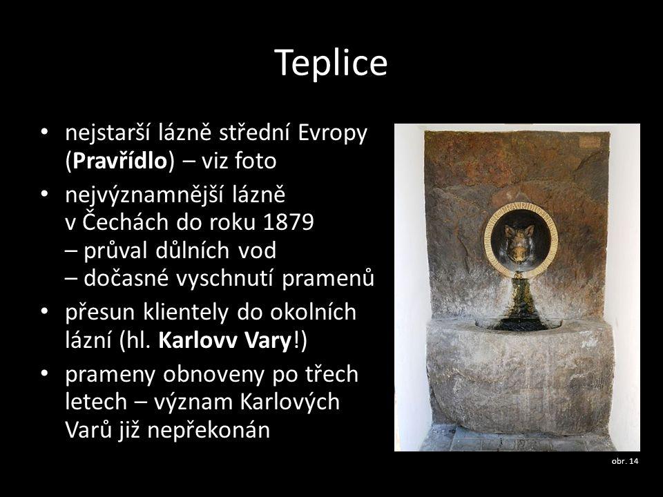 Teplice nejstarší lázně střední Evropy (Pravřídlo) – viz foto