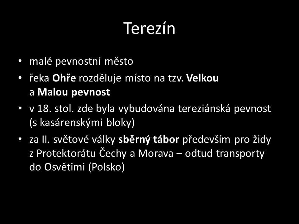 Terezín malé pevnostní město