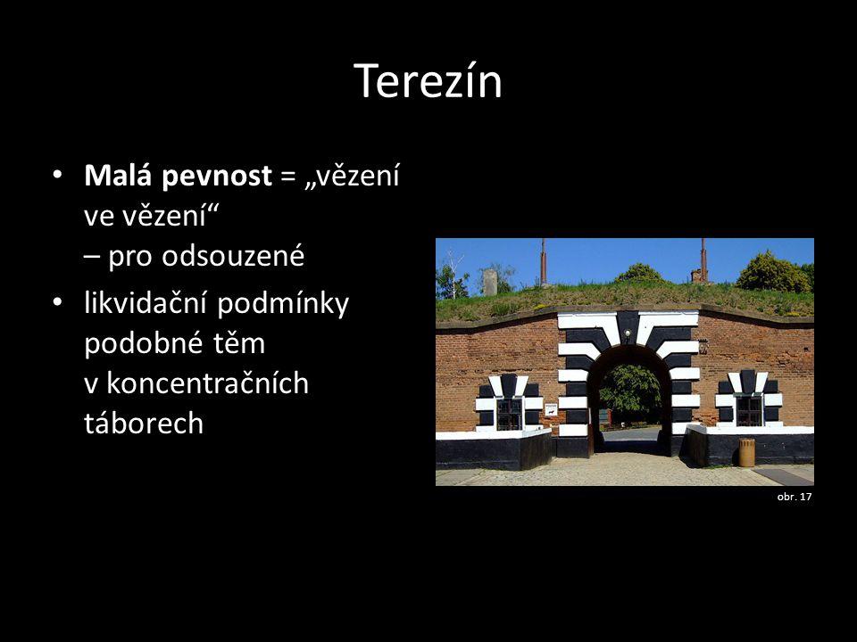 """Terezín Malá pevnost = """"vězení ve vězení – pro odsouzené"""