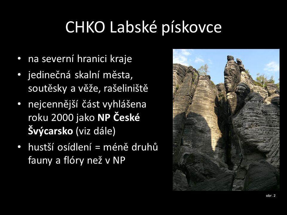CHKO Labské pískovce na severní hranici kraje