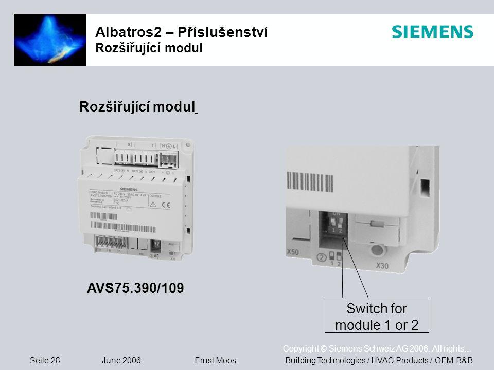 Albatros2 – Příslušenství Rozšiřující modul