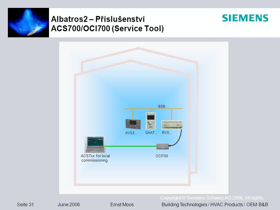 Albatros2 – Příslušenství ACS700/OCI700 (Service Tool)
