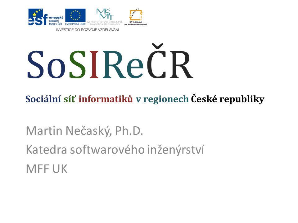 SoSIReČR Sociální síť informatiků v regionech České republiky
