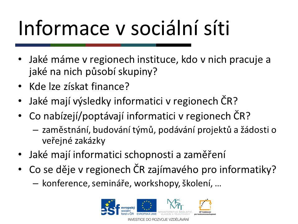 Informace v sociální síti