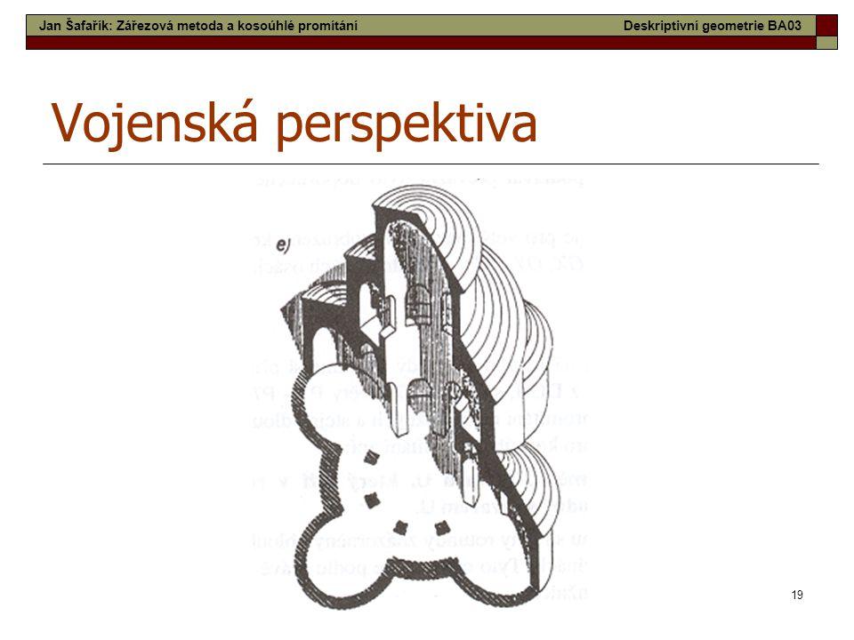 Vojenská perspektiva Jan Šafařík: Zářezová metoda a kosoúhlé promítání