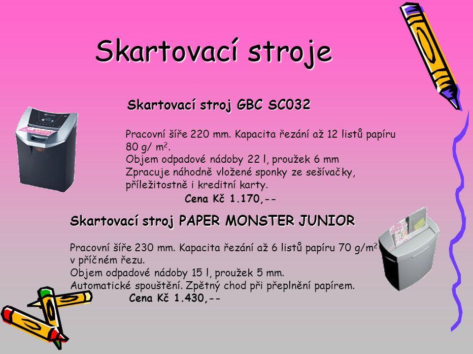 Skartovací stroje Skartovací stroj GBC SC032