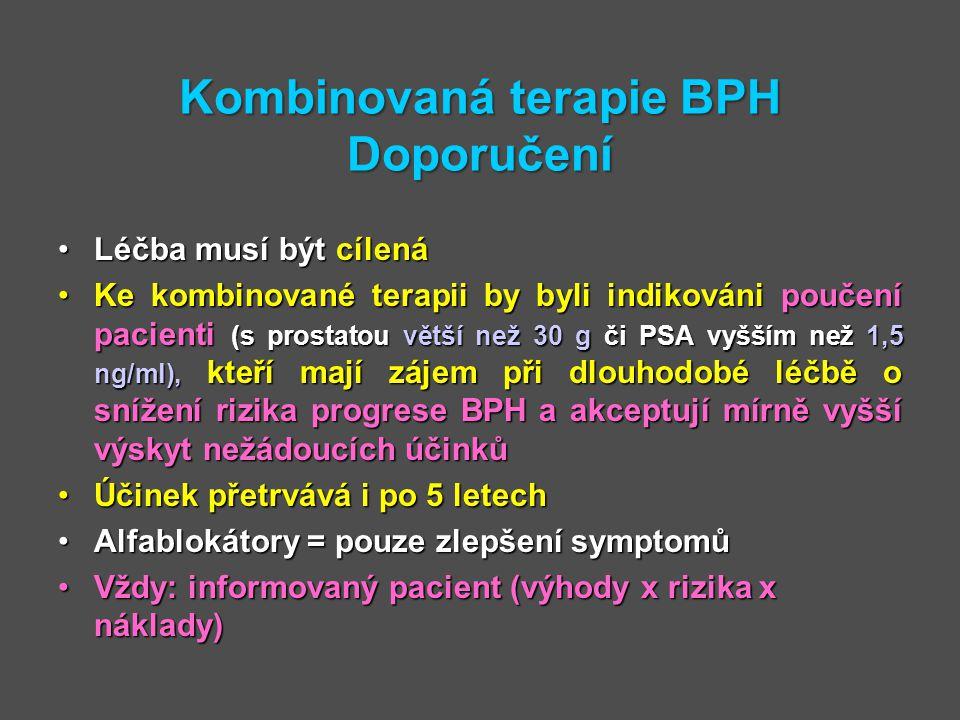 Kombinovaná terapie BPH Doporučení
