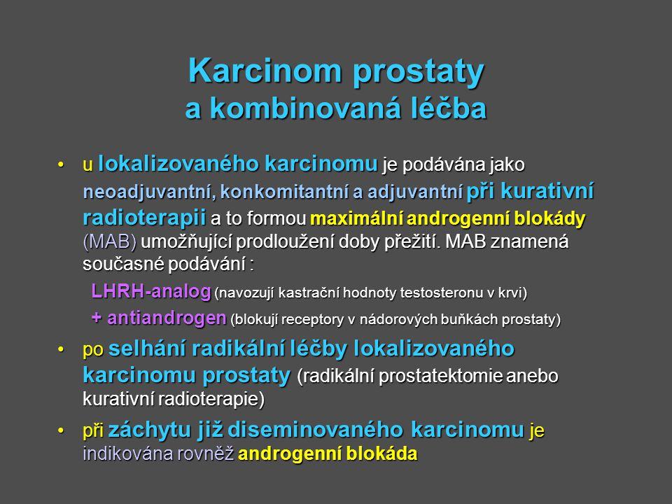 Karcinom prostaty a kombinovaná léčba