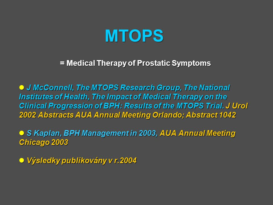 = Medical Therapy of Prostatic Symptoms
