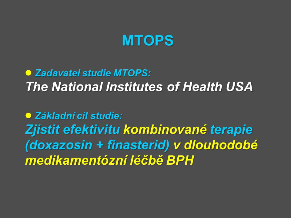 MTOPS The National Institutes of Health USA