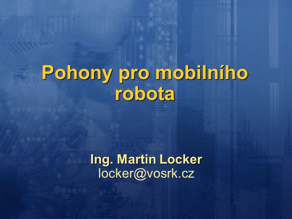 Pohony pro mobilního robota
