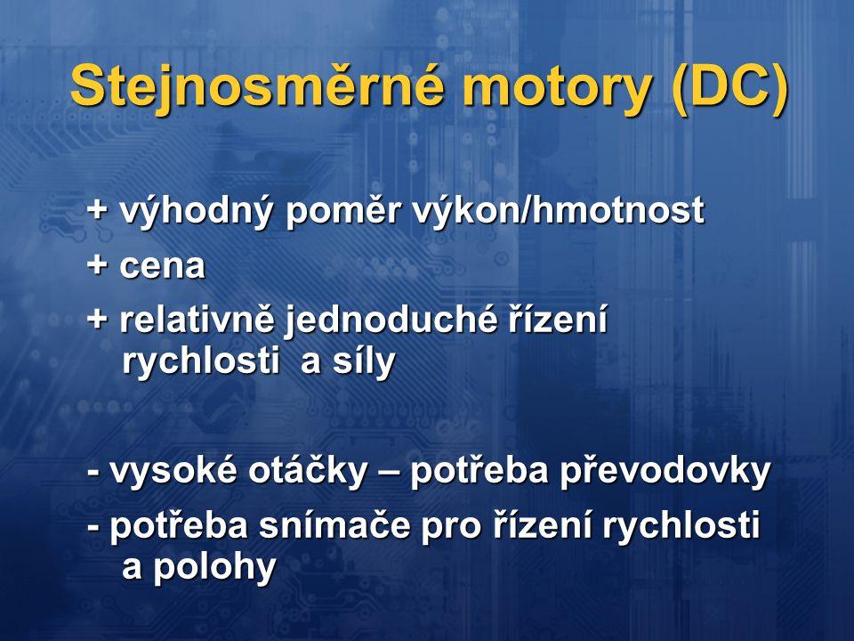Stejnosměrné motory (DC)