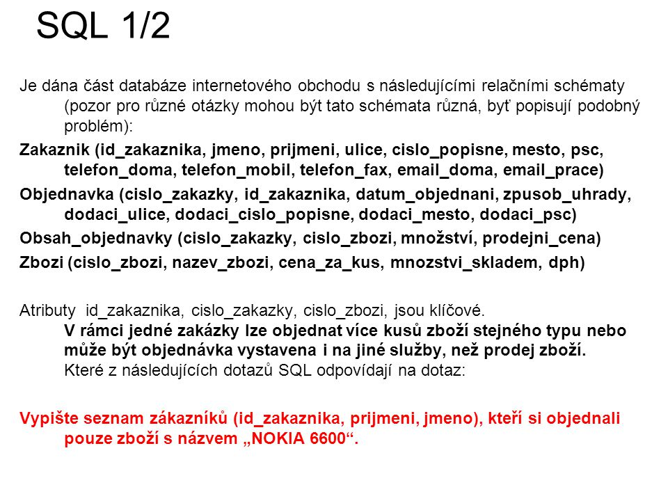 SQL 1/2
