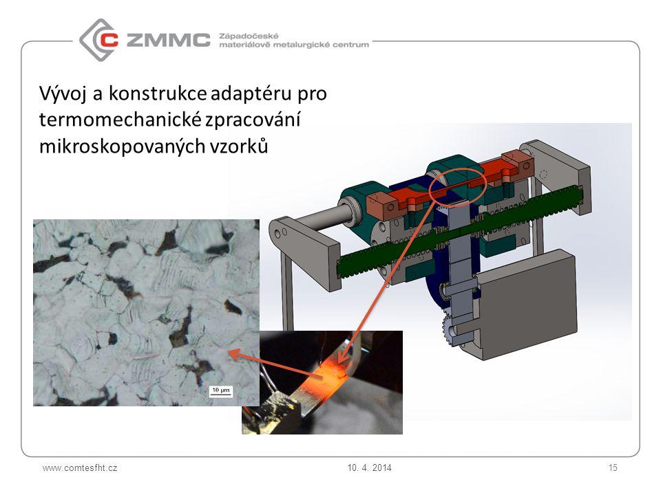 Vývoj a konstrukce adaptéru pro termomechanické zpracování mikroskopovaných vzorků