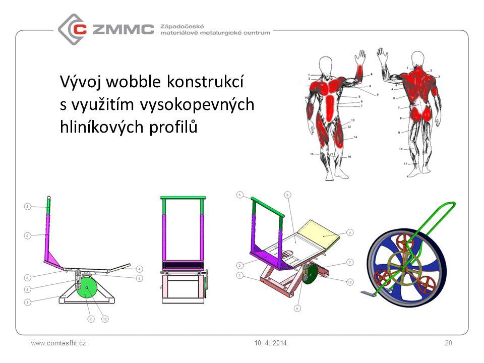 Vývoj wobble konstrukcí s využitím vysokopevných hliníkových profilů