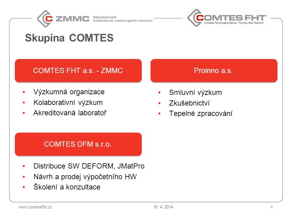 Skupina COMTES COMTES FHT a.s. - ZMMC Proinno a.s. Výzkumná organizace