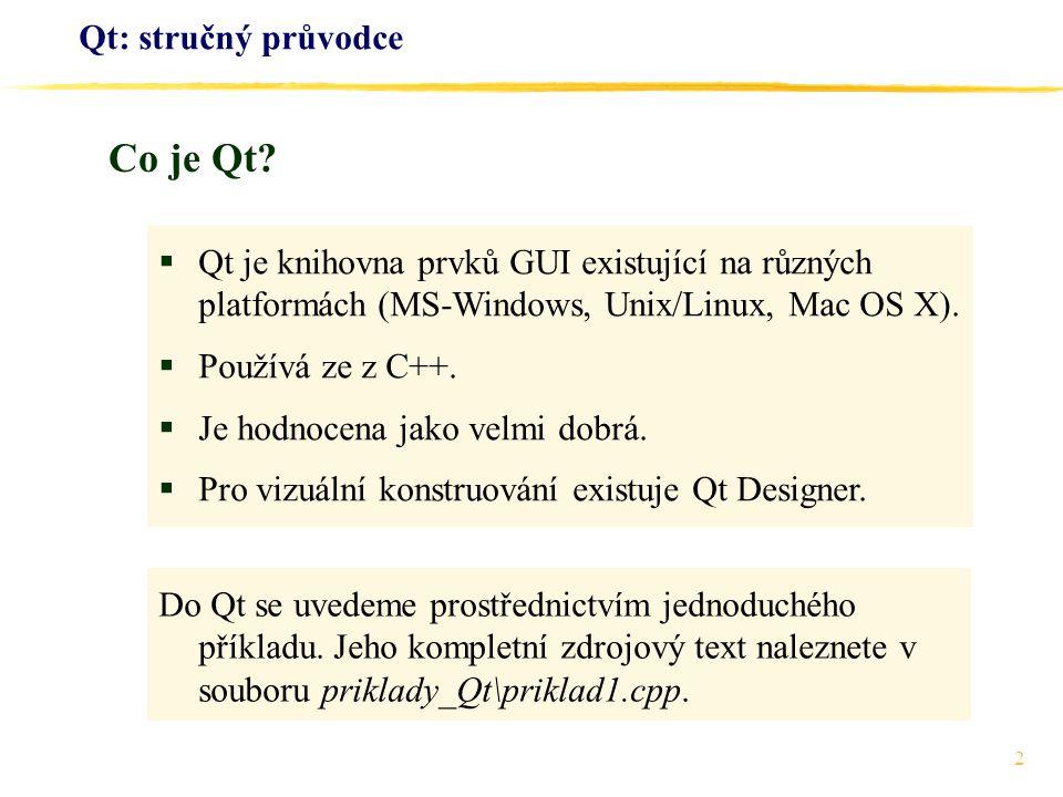 Co je Qt Qt: stručný průvodce