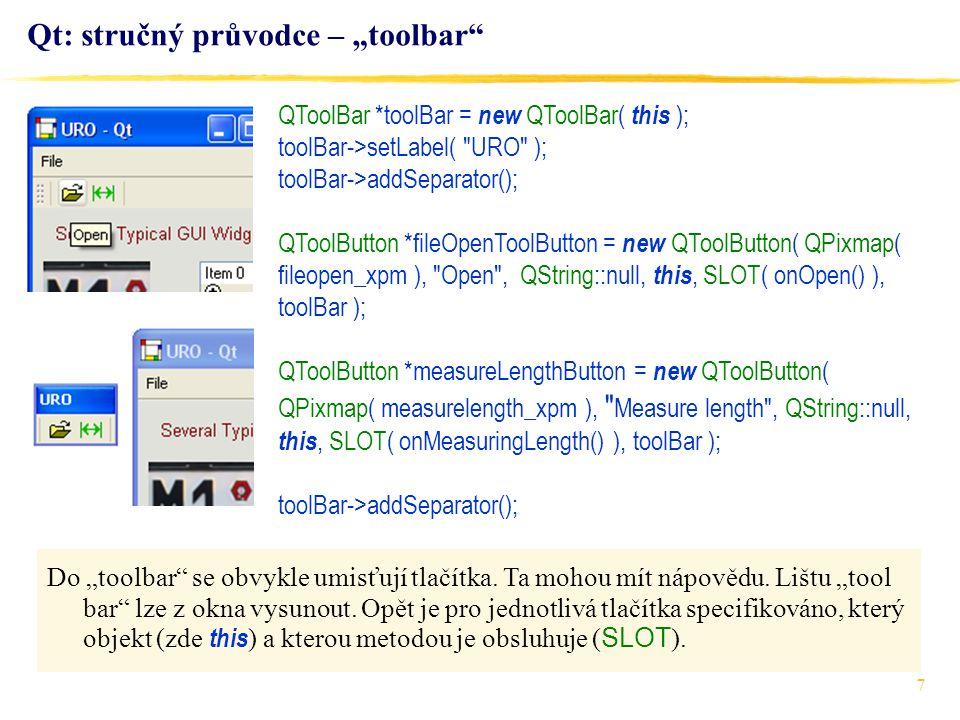 """Qt: stručný průvodce – """"toolbar"""