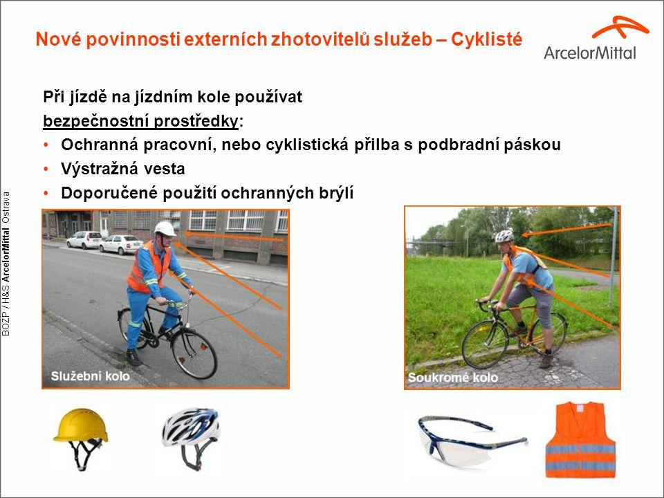 Nové povinnosti externích zhotovitelů služeb – Cyklisté