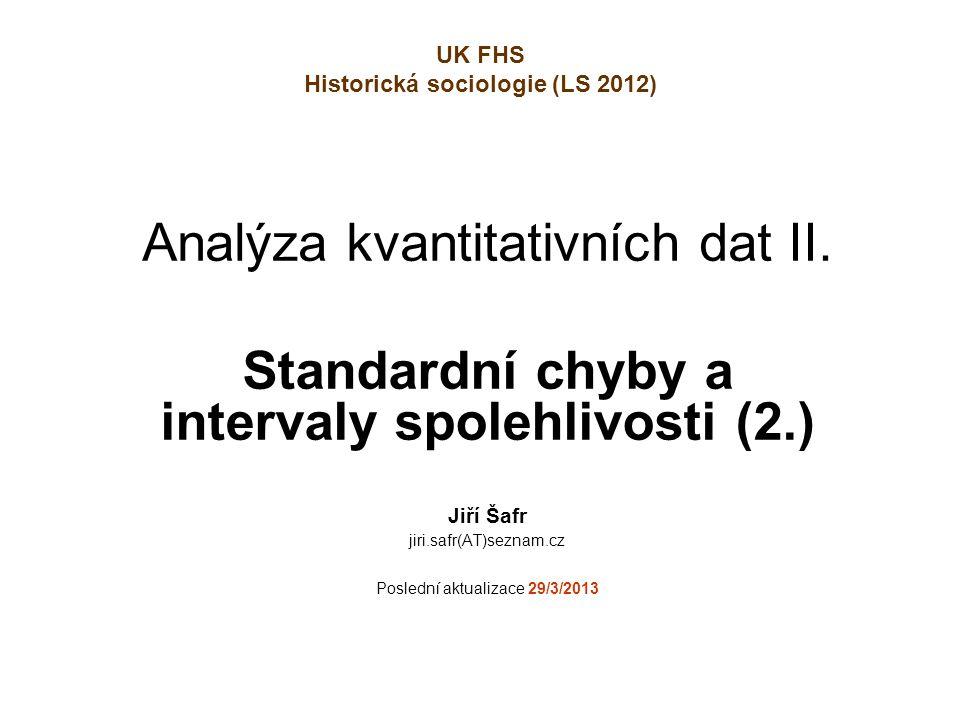 Analýza kvantitativních dat II.