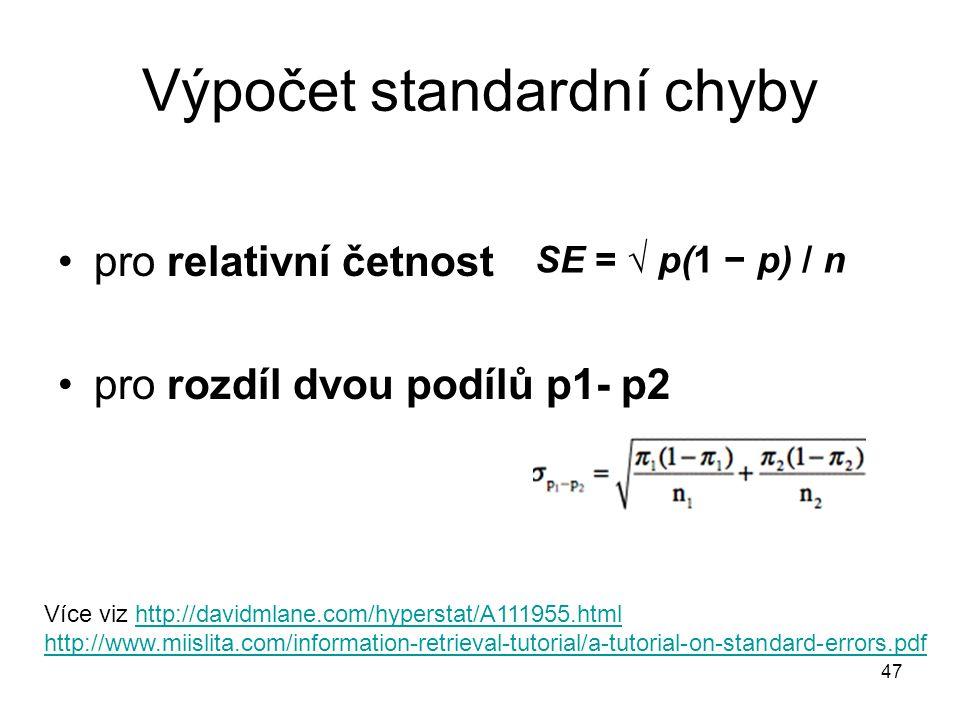 Výpočet standardní chyby
