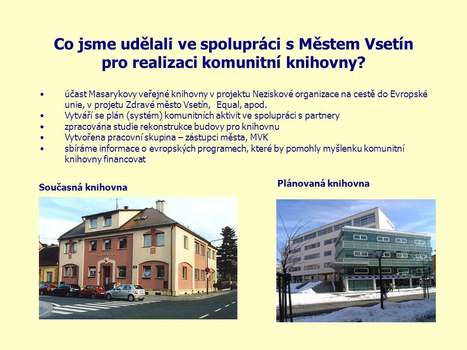 Co jsme udělali ve spolupráci s Městem Vsetín pro realizaci komunitní knihovny