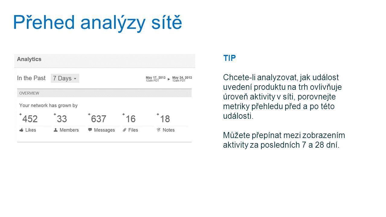 Přehed analýzy sítě TIP