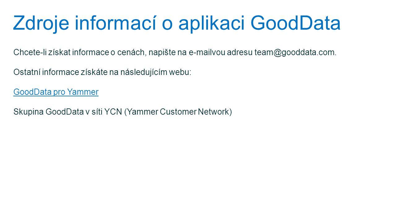 Zdroje informací o aplikaci GoodData