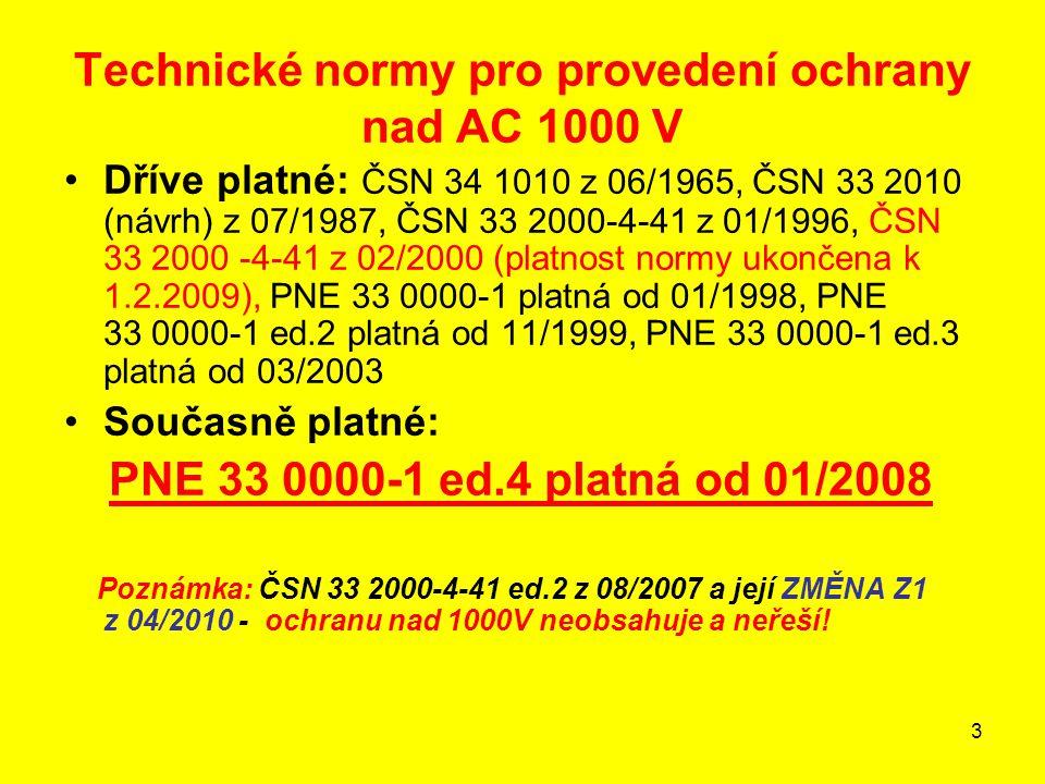 Technické normy pro provedení ochrany nad AC 1000 V
