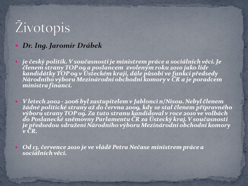 Životopis Dr. Ing. Jaromír Drábek