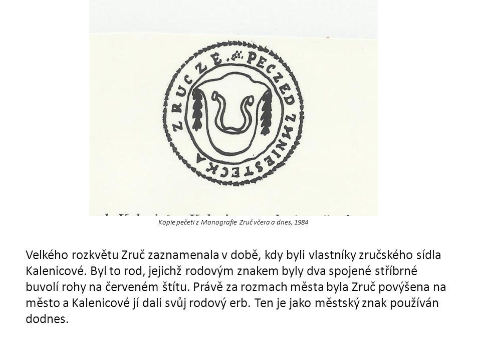 Kopie pečeti z Monografie Zruč včera a dnes, 1984