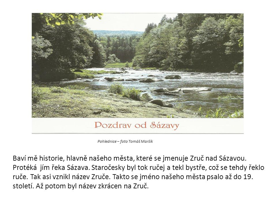 Pohlednice – foto Tomáš Maršík