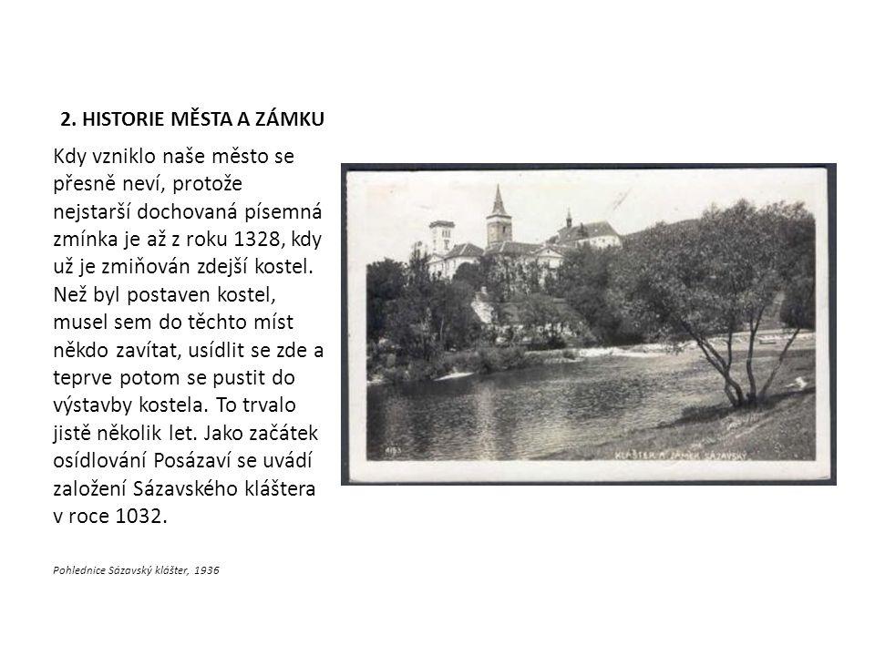 Pohlednice Sázavský klášter, 1936