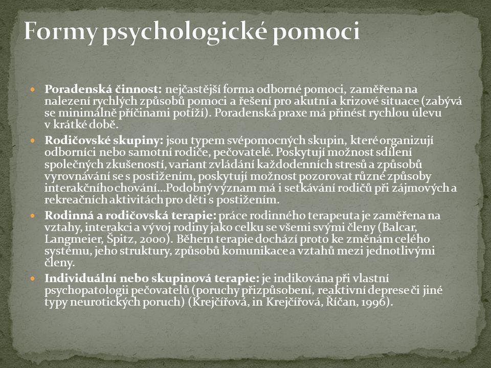 Formy psychologické pomoci