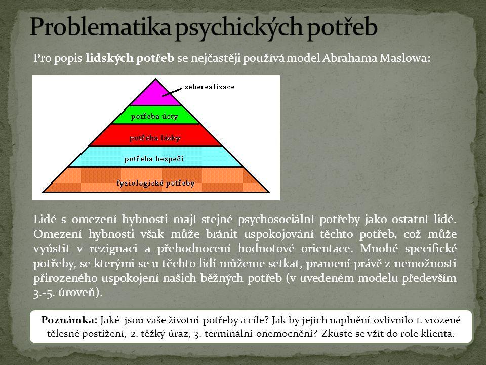 Problematika psychických potřeb