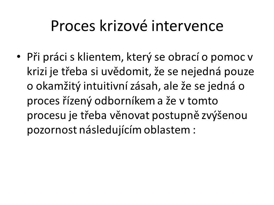Proces krizové intervence
