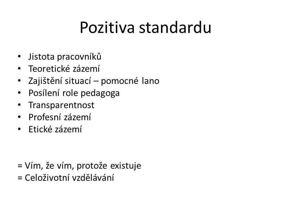 Pozitiva standardu Jistota pracovníků Teoretické zázemí