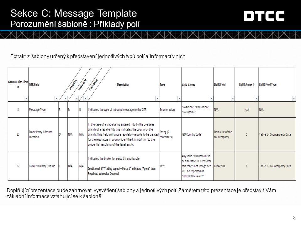 Sekce C: Message Template Porozumění šabloně : Příklady polí