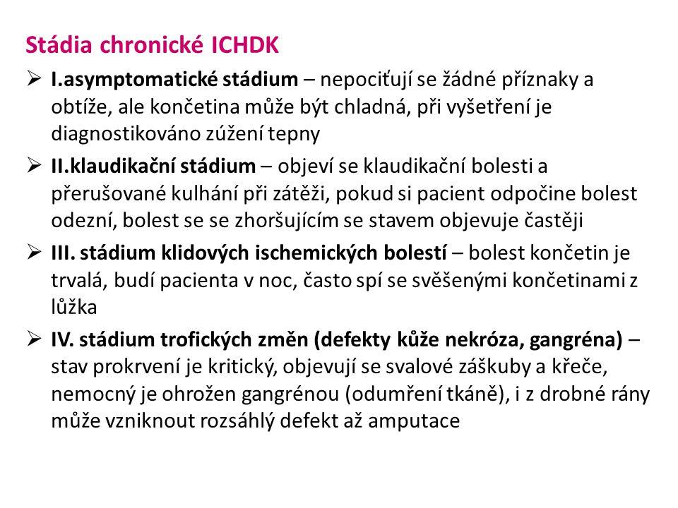 Stádia chronické ICHDK