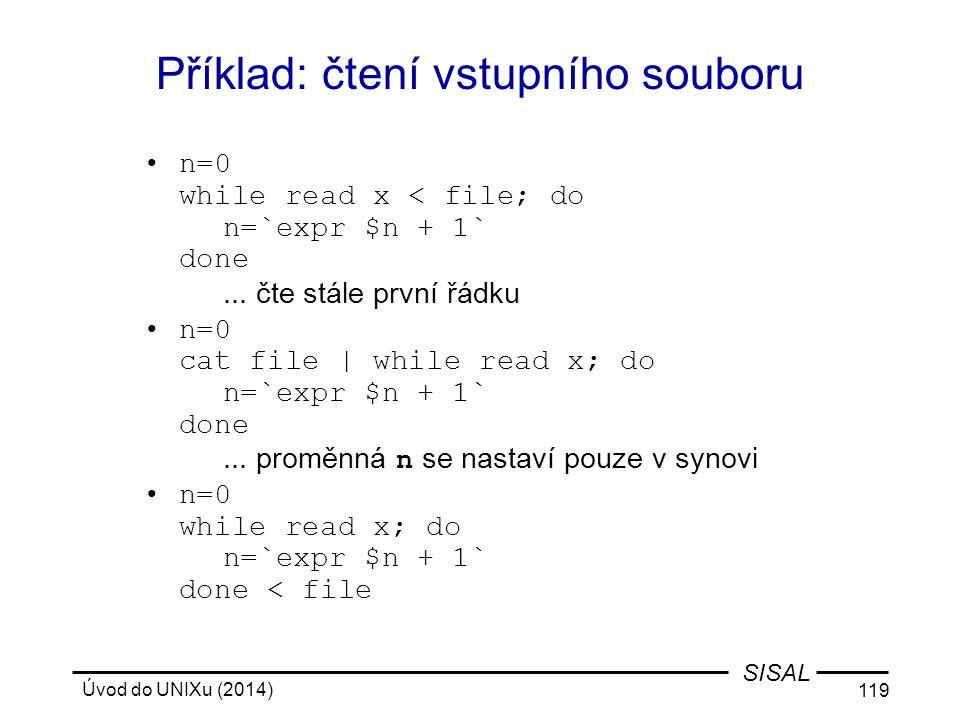 Příklad: čtení vstupního souboru