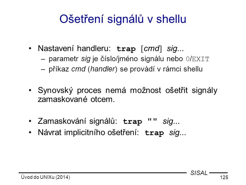 Ošetření signálů v shellu