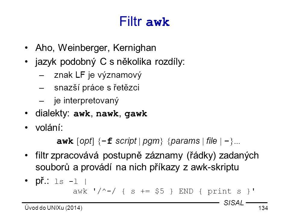 Filtr awk Aho, Weinberger, Kernighan